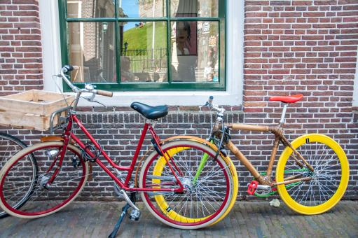 Free Stock Photo of Bikes in Holland