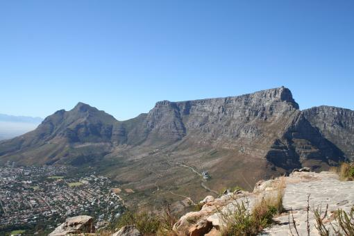 Free Stock Photo of Table Mountain from Lion's head