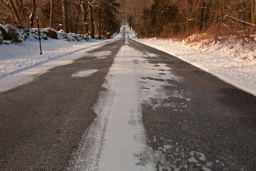 Free Stock Photo of Long Winter Road - HDR