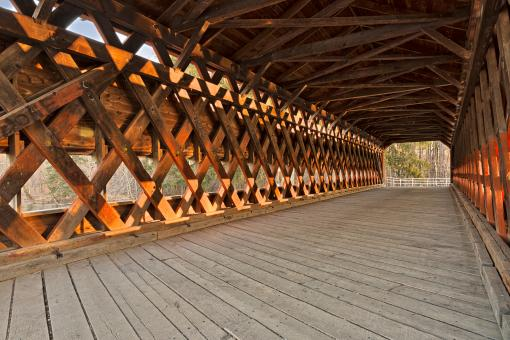 Free Stock Photo of Sachs Covered Bridge - HDR