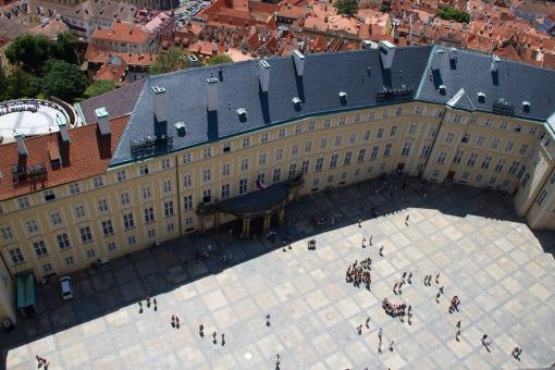 Free Stock Photo of Prague Castle Courtyard