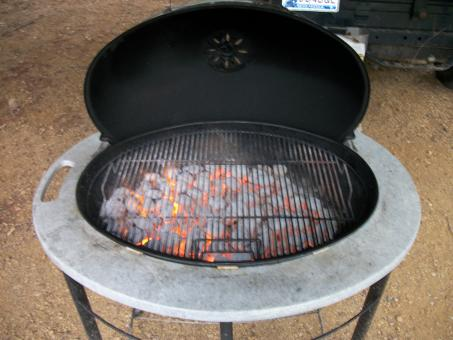 Free Stock Photo of Hot coals in grill