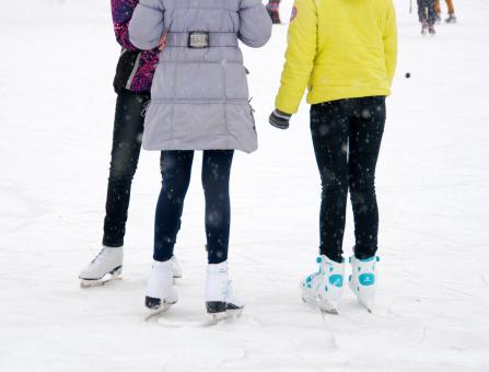 Free Stock Photo of Girls on skates