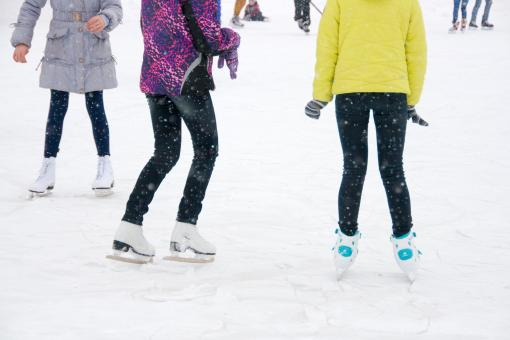 Free Stock Photo of Girls on ice skates