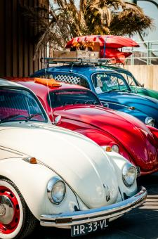 Free Stock Photo of Volkswagen Beetle Cars