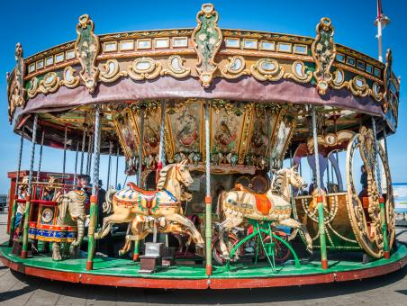 Free Stock Photo of Old carousel