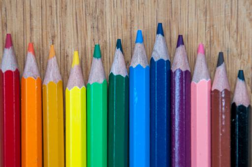 Free Stock Photo of Color pencils