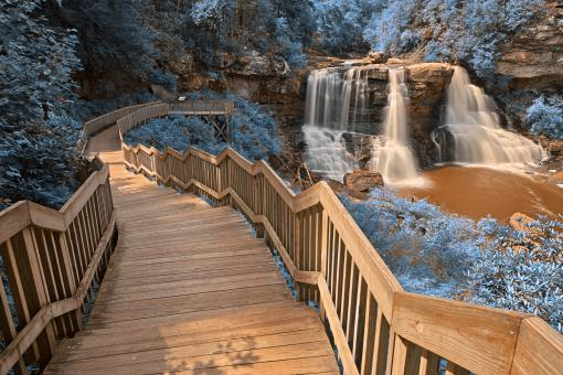 Free Stock Photo of Blue Blackwater Falls - HDR