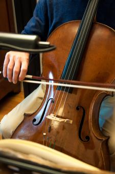 Free Stock Photo of Cello player musical instrument