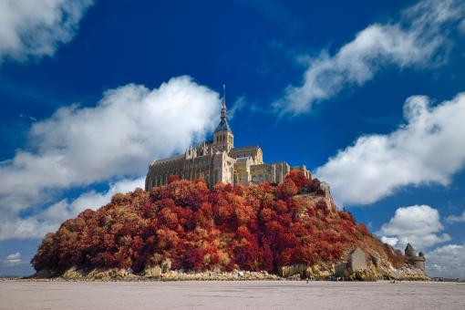 Free Stock Photo of Autumn Shades of Mont Saint-Michel - HDR
