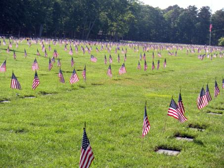 Free Stock Photo of A Veterans Cemetery