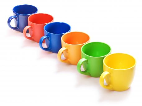 Free Stock Photo of Colored cups