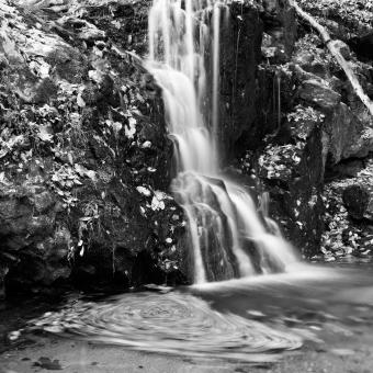 Free Stock Photo of Avalon Falls - Black and White