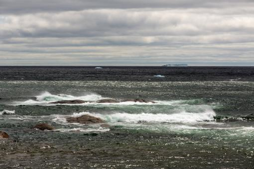 Free Stock Photo of North Atlantic with Iceberg in the Distance