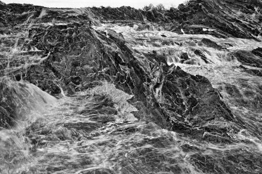 Free Stock Photo of Great Falls Leviathan - Black & White