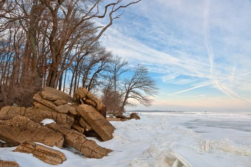 Free Stock Photo of North Point Winter Beach - HDR