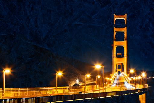 Free Stock Photo of Golden Glacier Bridge