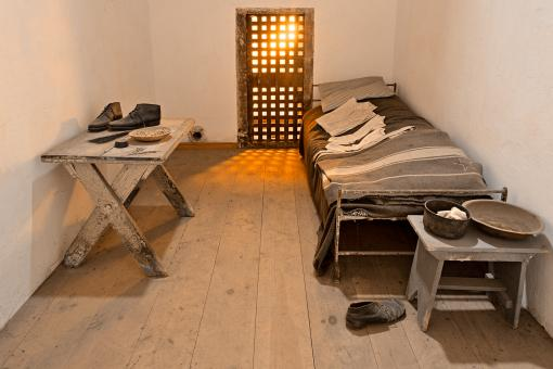 Free Stock Photo of Glowing Prison Cell - HDR