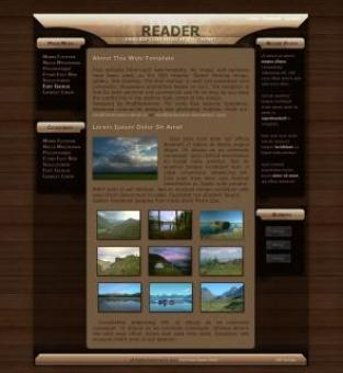 Free Stock Photo of Reader Web-Template v3