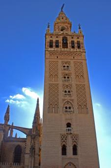 Free Stock Photo of La Giralda tower in Seville, Spain