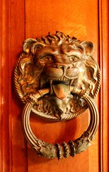 Free Stock Photo of Ornate ancient door knocker