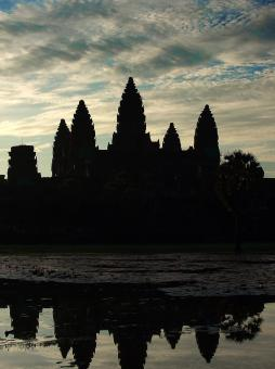 Free Stock Photo of Angkor Wat temple at sunrise - Cambodia