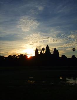 Free Stock Photo of Angkor Wat at sunrise - Cambodia