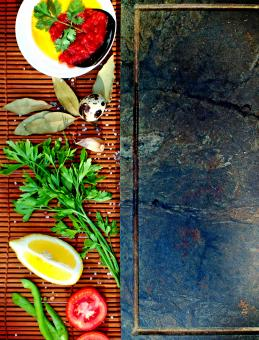 Free Stock Photo of Basic mediterranean cooking ingredients