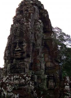 Free Stock Photo of Bayon Temple Giant Faces - Cambodia