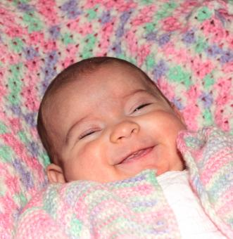 Free Stock Photo of Portrait of a happy baby smiling
