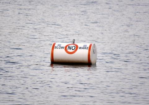 Free Stock Photo of No Wake Buoy