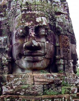 Free Stock Photo of Giant faces of the ancient Bayon Temple