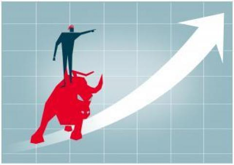 Free Stock Photo of Riding the Wall Street Bull - Arrow up