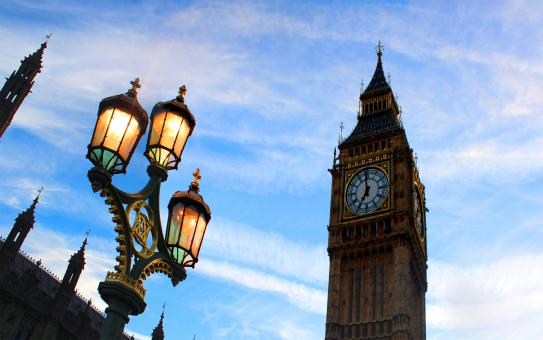 Free Stock Photo of Perspective of Big Ben from Westminster