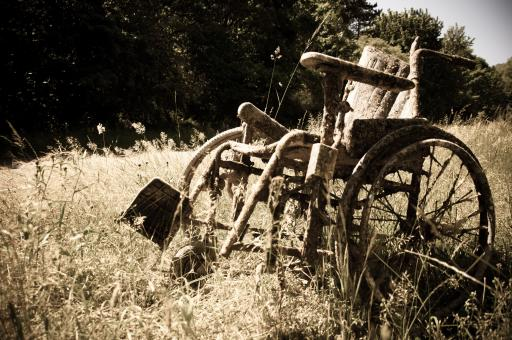 Free Stock Photo of Abandoned Wheelchair
