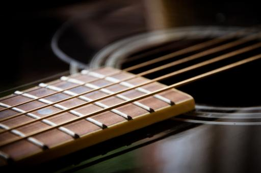 Free Stock Photo of Guitar close up