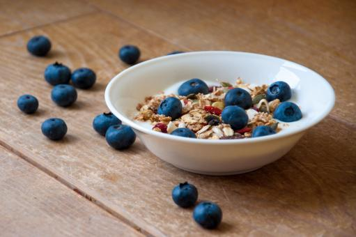 Free Stock Photo of Yogurt with superfood granola