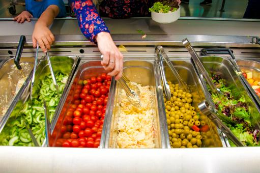Free Stock Photo of Salad bar with vegetables