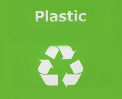 Free Stock Photo of Plastic recycle sign