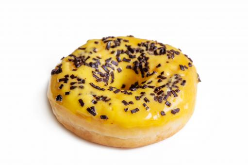Free Stock Photo of Yellow donut