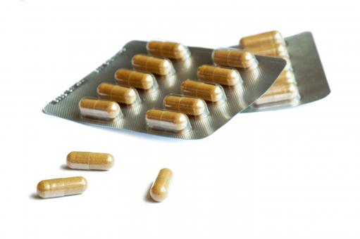 Free Stock Photo of Packs of pills isolated on white