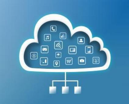 Free Stock Photo of Cloud Computing Concept - Flat Design