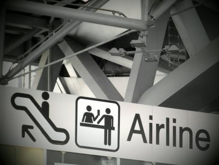Free Stock Photo of Airport Signs