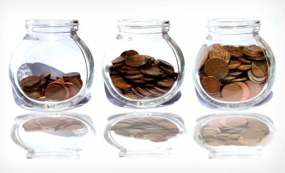 Free Stock Photo of Coins in the jar - Savings
