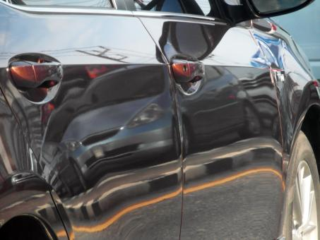 Free Stock Photo of Car Reflection of Traffic