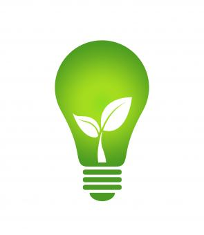 Free Stock Photo of Ecology Think green light bulb