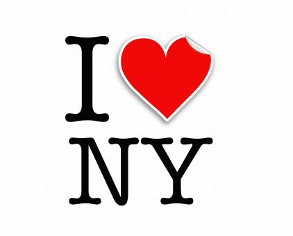 Free Stock Photo of I love NY letters design