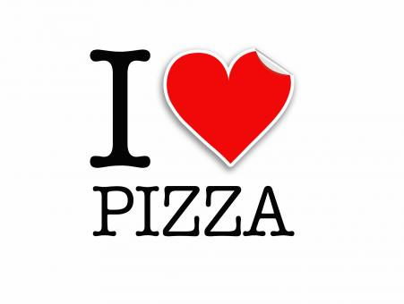 Free Stock Photo of I love pizza