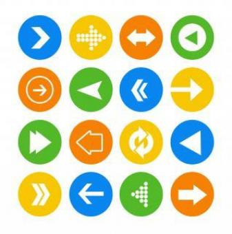Free Stock Photo of Arrows icons vector set