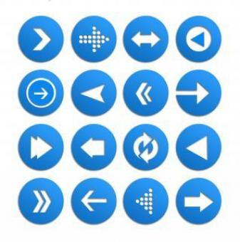 Free Stock Photo of Arrow icon vector set